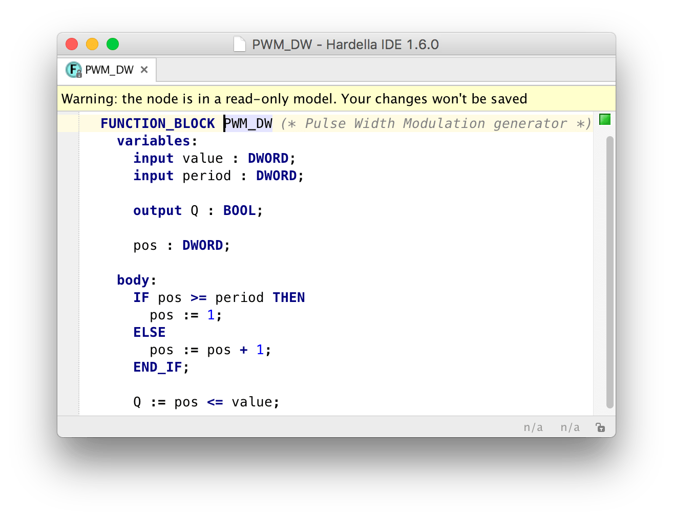PWM block source code